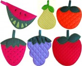 CSS139 - Quilted Fruit Potholders