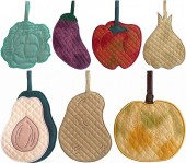 CSS145 - Quilted Vegetable Potholders
