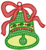 CSS055 - FSL Christmas Bell Ornament 3