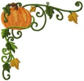 CSS121 - Curly Pumkin Borders & Cnrs 2