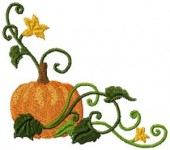 CSS121 - Curly Pumkin Borders & Cnrs 4