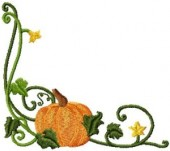 CSS121 - Curly Pumkin Borders & Cnrs 6