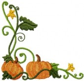 CSS121 - Curly Pumkin Borders & Cnrs 8