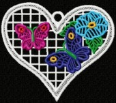 CSS141 - FSL Flower & Butterfly Hearts 6