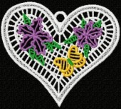 CSS141 - FSL Flower & Butterfly Hearts 7