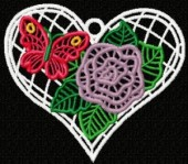 CSS141 - FSL Flower & Butterfly Hearts 8