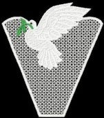CSS249 - FSL Dove of Peace Doily