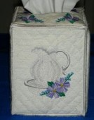 CSS332 - Pitcher & Water Bowl Tissue Box 5x7