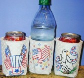 CSS422- Patriotic Can Coozies