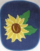 CSS531 - ITH Hot Pads with Applique  Sunflower 01