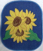 CSS531 - ITH Hot Pads with Applique  Sunflower 02