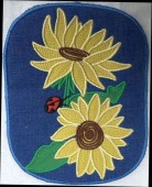 CSS531 - ITH Hot Pads with Applique  Sunflower 03