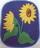 CSS531 - ITH Hot Pads with Applique  Sunflower 04