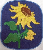 CSS531 - ITH Hot Pads with Applique  Sunflower 05