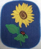 CSS531 - ITH Hot Pads with Applique  Sunflower 06